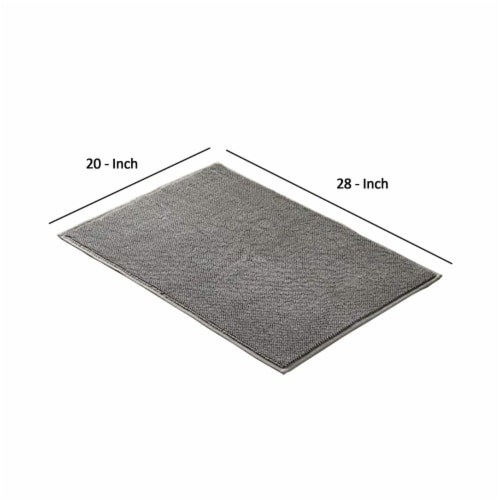 Saltoro Sherpi Salzburg Reversible Bath Rug with Quick Drying Loops The Urban Port, Charcoal Perspective: back