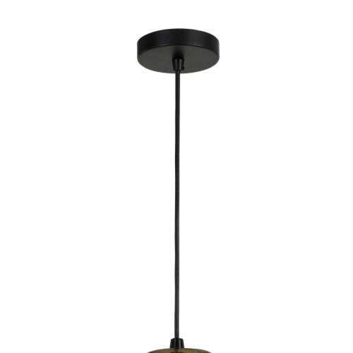 Saltoro Sherpi Round Glass Shade Pendant Lighting with Canopy and Hardwired Switch, Brown Perspective: back
