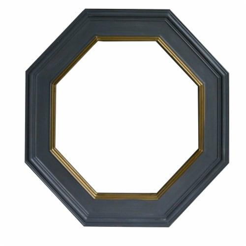 Benzara Octagonal Wall Mirror - Gray Perspective: back