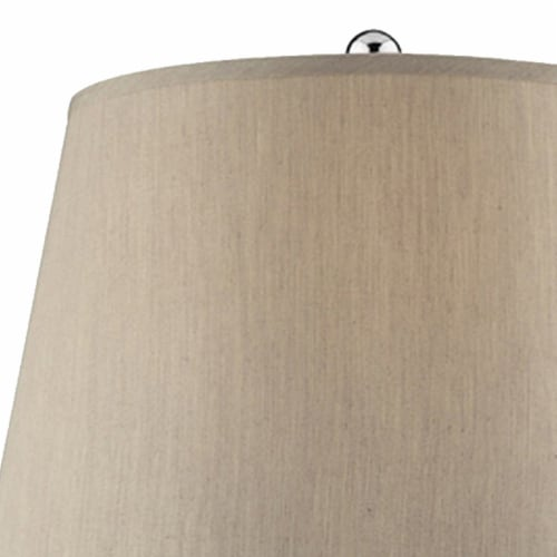 Onion Shaped Body Glass Table Lamp with Tapered Shade, Purple Perspective: back