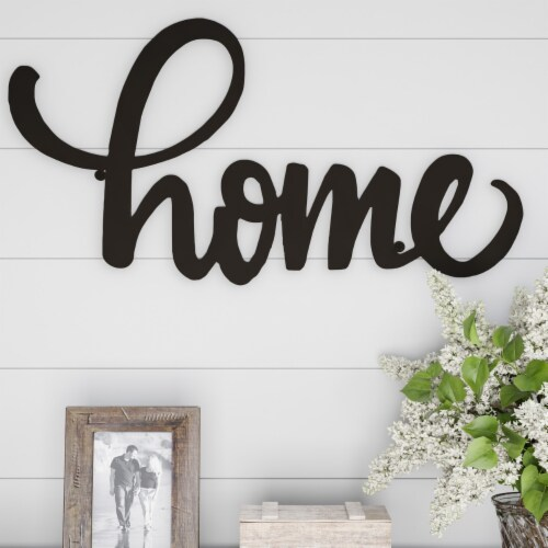 Metal Cutout- Home Decorative Wall Sign-3D Word Art Home Accent Decor Perspective: back