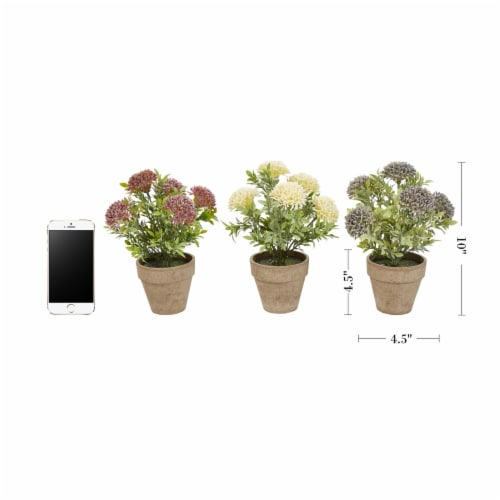 Faux Flowers  Assorted Natural Lifelike 10  Floral Arrangement and Imitation Greenery with Perspective: back