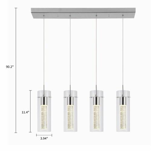 4-Light LED Cluster Cylinder Pendant Light Perspective: back