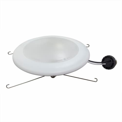 7.5-in Turnable CCT Integrated LED J-Box or Recessed Can Mounted Disk Light 4pack Perspective: back
