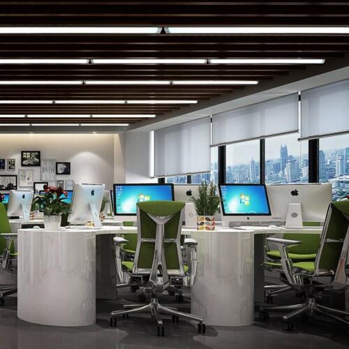 4FT 40-watt LED Linkable Wraparound Light 4Pack Perspective: back