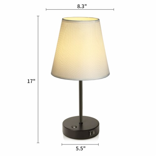 17 in.2USB Ports Table Lamp Perspective: back
