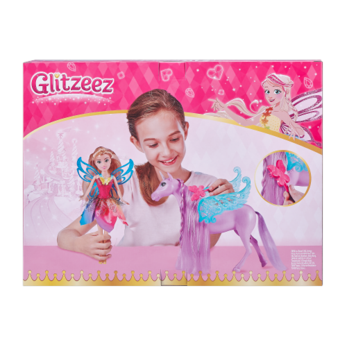 Zuru Glitzeez Fairy Doll & Unicorn Perspective: back