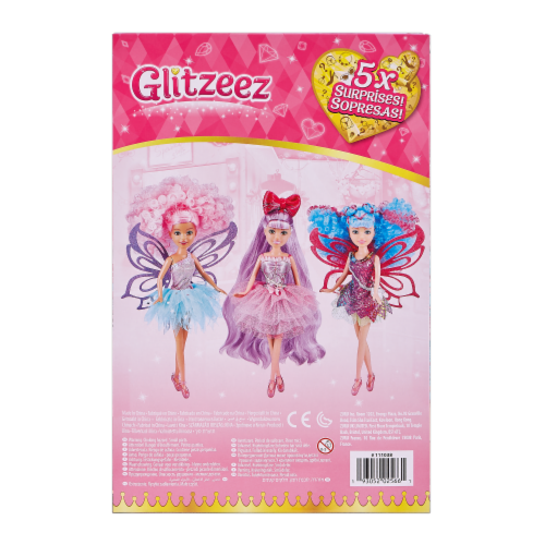 Zuru Glitzeez Hair Dreams Surprise Doll Perspective: back