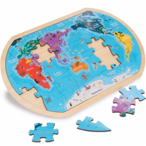 Professor Poplar's Whole Wide World Puzzle Map Perspective: back
