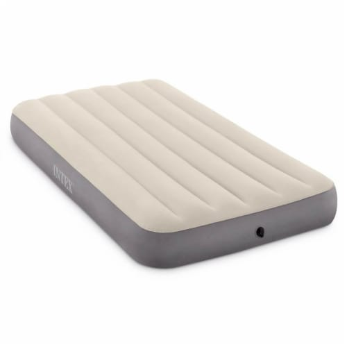 Intex Twin Deluxe Dura Beam Single High Airbed Mattress & Cordless Electric Pump Perspective: back