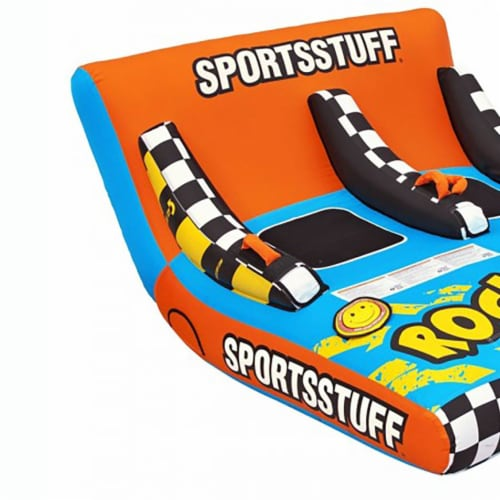 Sportsstuff Inflatable Rock N' Tow 2 Sitting Double Rider Towable Boat Lake Tube Perspective: back