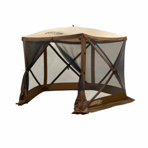 Clam QuickSet Venture Portable Outdoor Gazebo Canopy Shelter, Brown (2 Pack) Perspective: back
