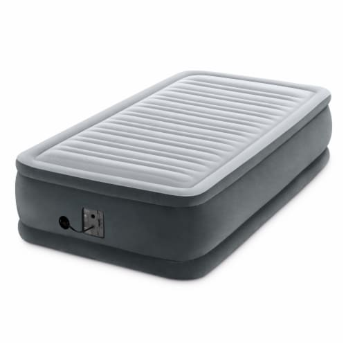 Intex Dura Beam Airbed, Twin & Intex Deluxe Air Bed, Queen w/ Built In Pumps Perspective: back