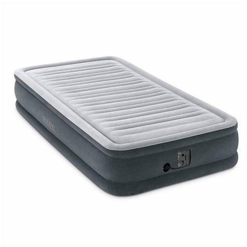 Intex Comfort Plush Dura Beam Plus Series Mid Rise Airbed w/ Pump, Twin (2 Pack) Perspective: back