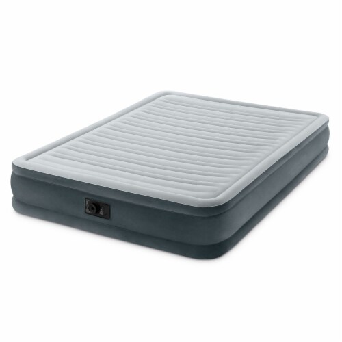 Intex Dura-Beam Series Mid Rise Airbed w/Built In Electric Pump, Queen (5 Pack) Perspective: back