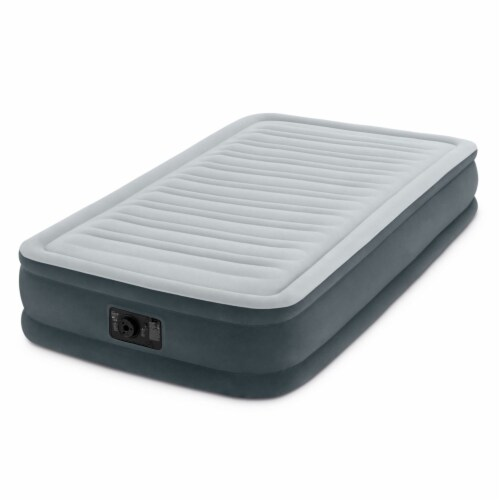 Intex PVC Dura-Beam Series Mid Rise Airbed with Built In Electric Pump, Twin (8) Perspective: back