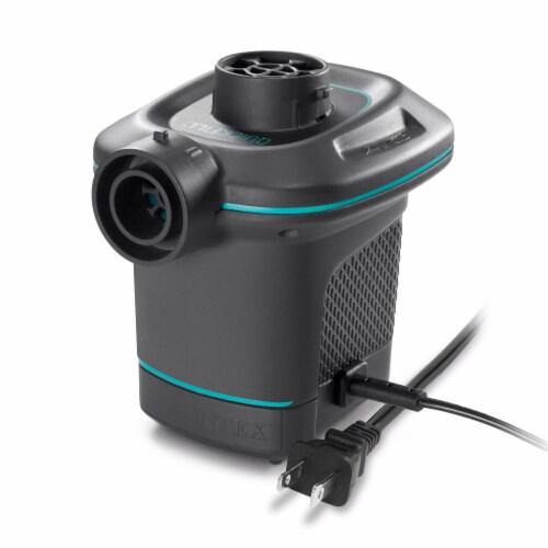 Intex 120V Quick Fill AC Electric Air Pump w/ 3 Interconnected Nozzles (2 Pack) Perspective: back
