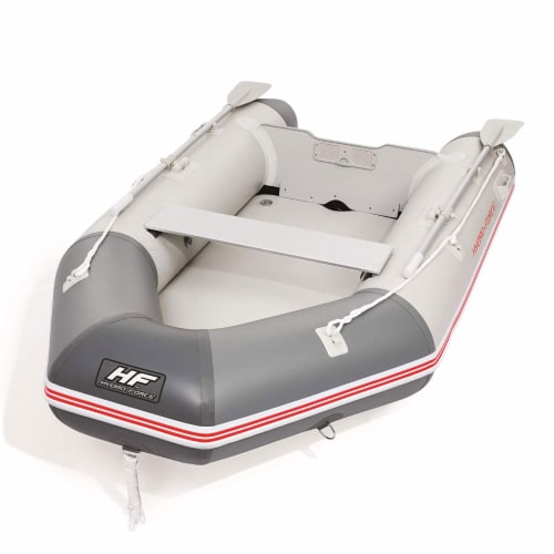 Bestway Hydro Force 110 Inch Inflatable Boat Set with Oars and Pump (2 Pack) Perspective: back