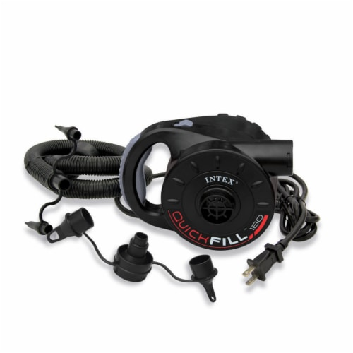 Intex 120-Volt Quick-Fill AC Power Electric Air Pump with 3 Nozzles (2 Pack) Perspective: back