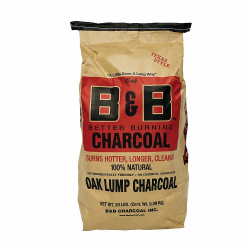 B&B Charcoal Signature Low Smoke Oak Lump Grilling Charcoal, 20 Pounds (2 Pack) Perspective: back