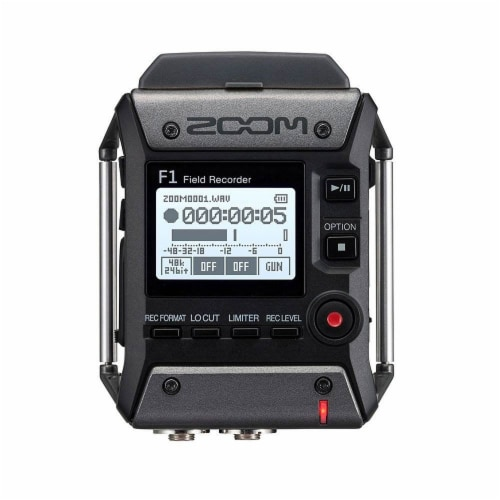 Zoom F1 Digital Sound Recorder with Lavalier Mic and EXH-6 Dual Input Capsule Perspective: back