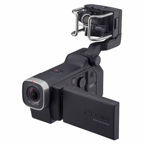 Zoom F1 Digital Audio Recorder with Lavalier Mic & Q8 Video Professional Camera Perspective: back