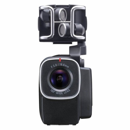 Zoom H5 Portable 4 Track Digital Audio Recorder and Q8 Video Professional Camera Perspective: back