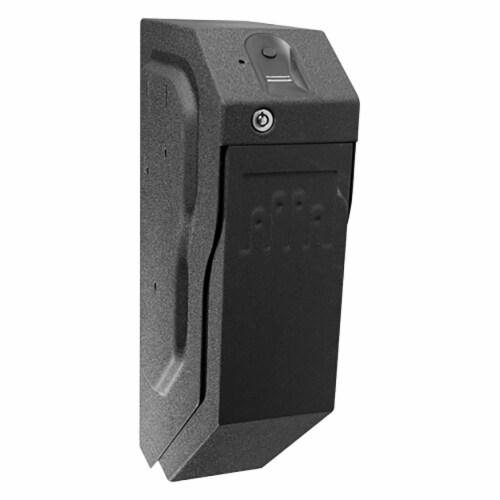 GunVault SpeedVault Series Quick Access Biometric Handgun Safe, Black (2 Pack) Perspective: back