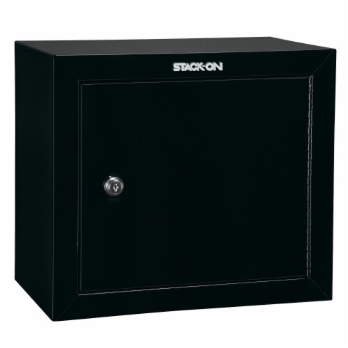 Stack On Stackable Locking 15 Inch Steel Pistol and Ammo Cabinet Safe (2 Pack) Perspective: back