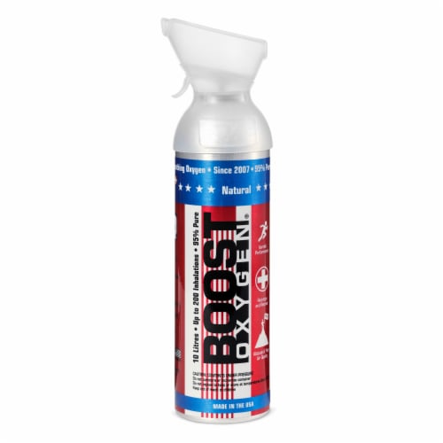 24 Pack 10L Boost Oxygen Stars and Stripes Pure Canned Oxygen Canister, Natural Perspective: back