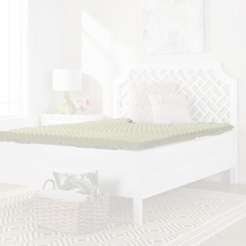 I Love Pillow 2.50 In Copper Gel Memory Foam Mattress Topper Pad, Twin (2 Pack) Perspective: back