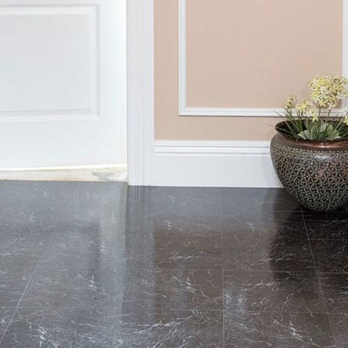Achim Home Furnishings Nexus Peel & Stick Vinyl Floor Tile, Black Marble, 60Pk Perspective: back