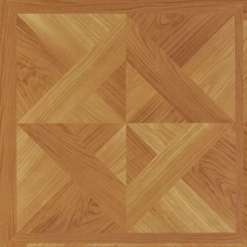 Achim Home Furnishings Nexus Peel & Stick Vinyl Floor Tile, Light Oak, 100 Pack Perspective: back