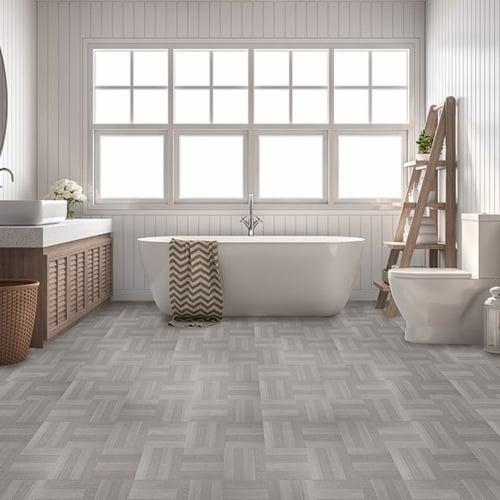Achim Home Furnishings Nexus Peel & Stick Vinyl Floor Tile, Ash Parquet, 60pk Perspective: back