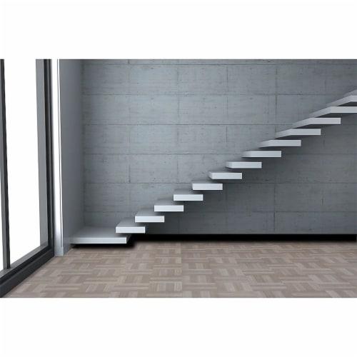 Achim Home Furnishings Nexus Peel & Stick Vinyl Floor Tile, Ash Parquet, 100pk Perspective: back