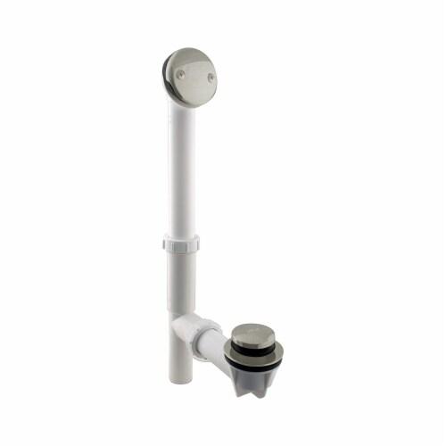 Westbrass 593244-62 1.5 Inch Tip Toe Bath Waste Drain Kit, Satin Nickel (2 Pack) Perspective: back