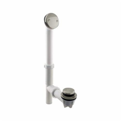 Westbrass 593244-62 1.5 Inch Tip Toe Bath Waste Drain Kit, Satin Nickel (6 Pack) Perspective: back