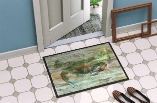 Carolines Treasures  SC2015MAT Crab a leg up Sunset Indoor or Outdoor Mat 18x27 Perspective: back
