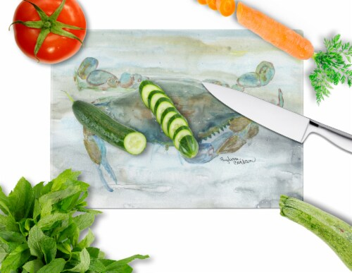 Crab a leg up Watercolor Glass Cutting Board Large Perspective: back