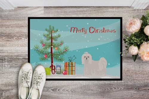 Carolines Treasures  CK3471JMAT Maltese Christmas Tree Indoor or Outdoor Mat 24x Perspective: back
