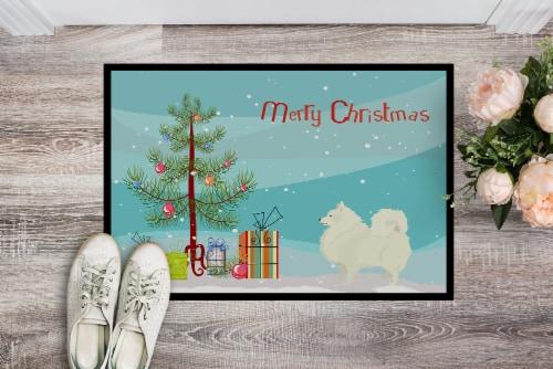 Carolines Treasures  CK3565MAT Spitz Christmas Tree Indoor or Outdoor Mat 18x27 Perspective: back