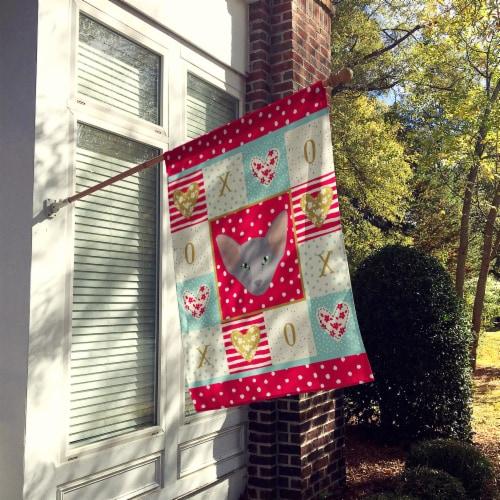 Carolines Treasures  CK5143CHF Oriental Shorthair Cat Love Flag Canvas House Siz Perspective: back