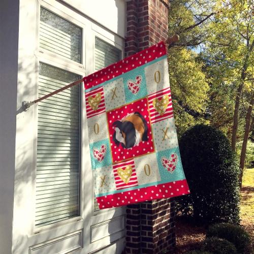Carolines Treasures  CK5433CHF Sheba Guinea Pig Love Flag Canvas House Size Perspective: back