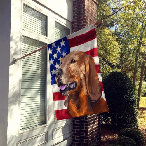 Segugio Italiano Dog American Flag Flag Canvas House Size Perspective: back