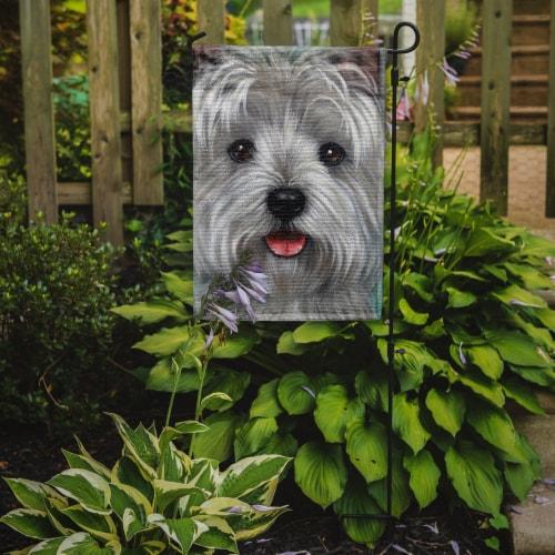 Carolines Treasures  PPP3212GF Westie Kissable Face Flag Garden Size Perspective: back