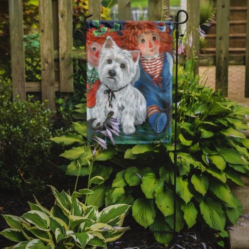 Carolines Treasures  PPP3226GF Westie Ragdoll Flag Garden Size Perspective: back