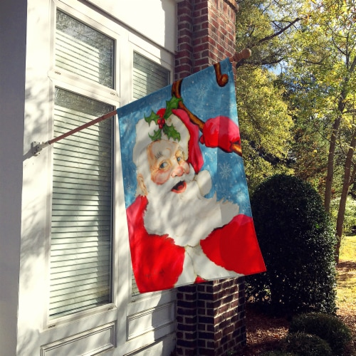 Santa Claus Old Father Christmas Flag Canvas House Size Perspective: back