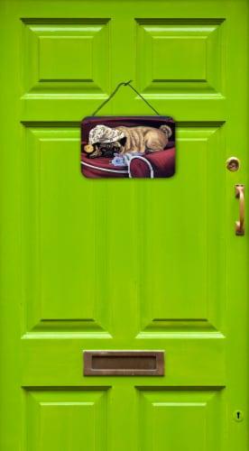 Pug Goodnight Sweetheart Wall or Door Hanging Prints Perspective: back