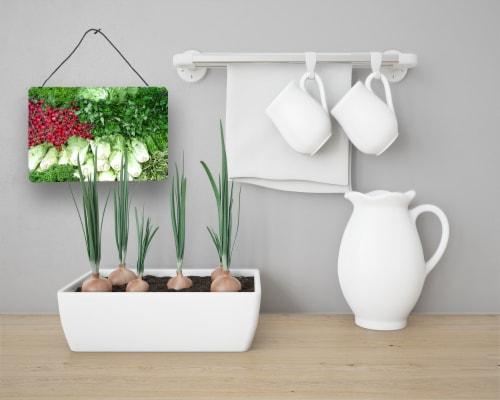 Carolines Treasures  GAK1023DS812 Salad by Gary Kwiatek Wall or Door Hanging Pri Perspective: back