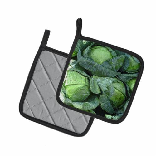 Carolines Treasures  GAK1016PTHD Cabbage by Gary Kwiatek Pair of Pot Holders Perspective: back